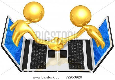 Gold Guys E-Business Handshake