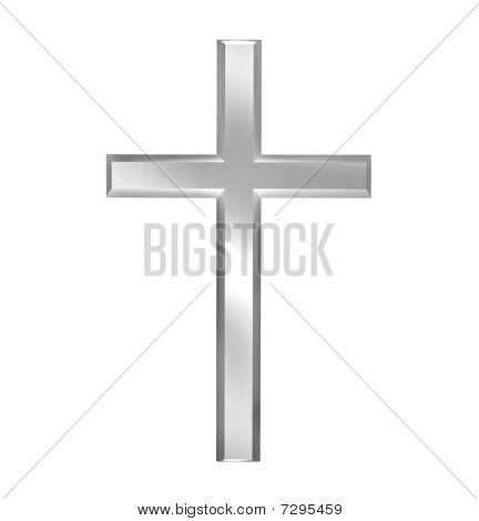 Cross isolated on white background