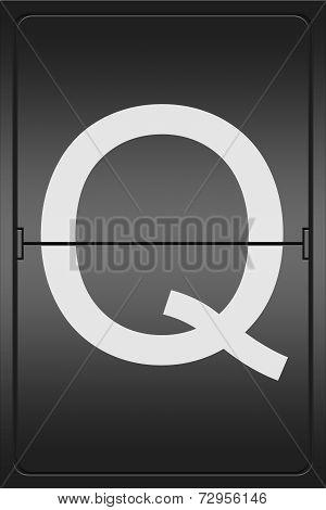 Letter Q On A Mechanical Leter Indicator