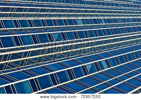 Abstract Design Of Blue And Grey Lines