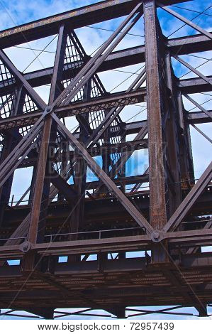 Steel Girders Of A Bridge Span