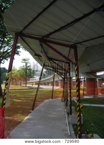 Makeshift Covered Walkway