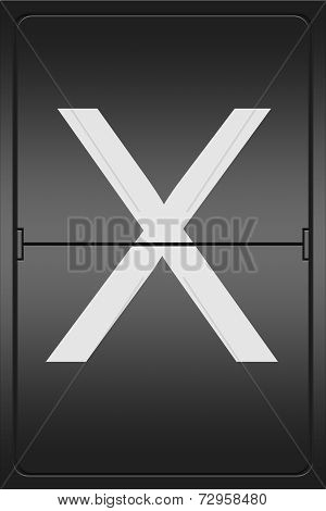 Letter X On A Mechanical Leter Indicator