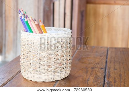 Group Of Different Colored Pencils