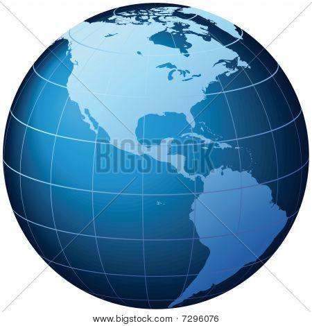 World Globe - Vector