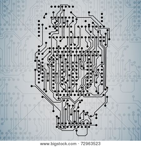Microchip background, electronics circuit, EPS10 vector illustration