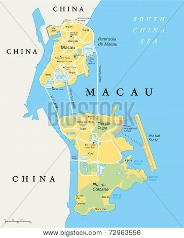 Macau Political Map