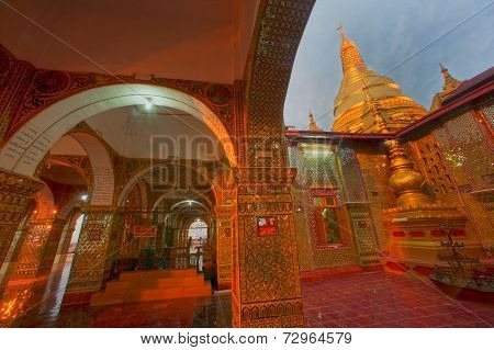 Myanmar Arch Door Of  Sutaungpyai Pagoda,mandalay Hill.