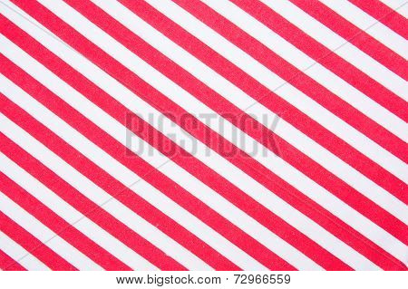 Red And White Strip Texture