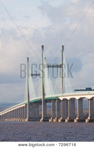 Centre Span Of The New Severn Bridge , Uk