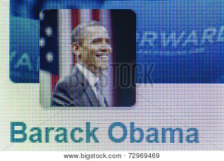 Social Networking Icon Barack Obama