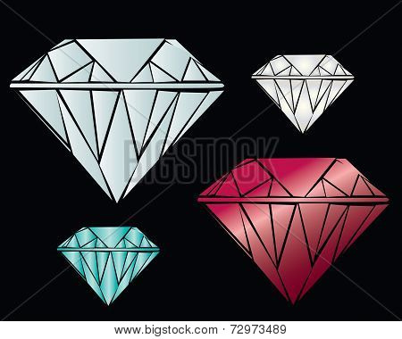 Vector illustration of a realistic diamond