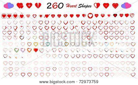 Heart Shapes Set