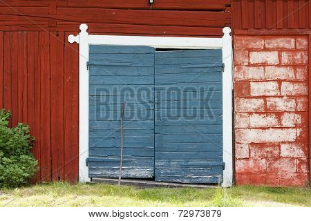 Entrance to a barn