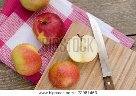Apple on the board