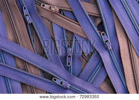 pile of zippers