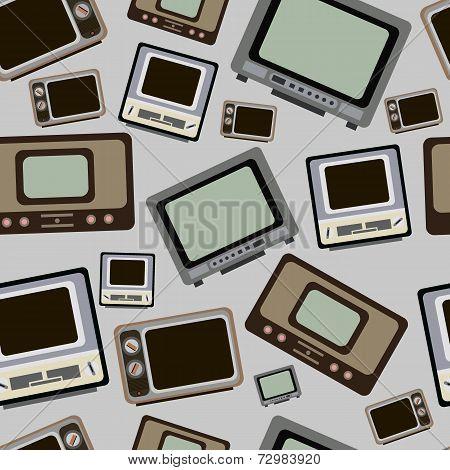Old TVs seamless texture