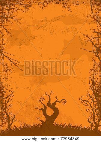 Halloween Grunge Background Orange