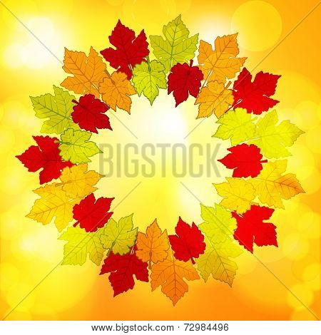 Autumn Leaf Border Background Glow