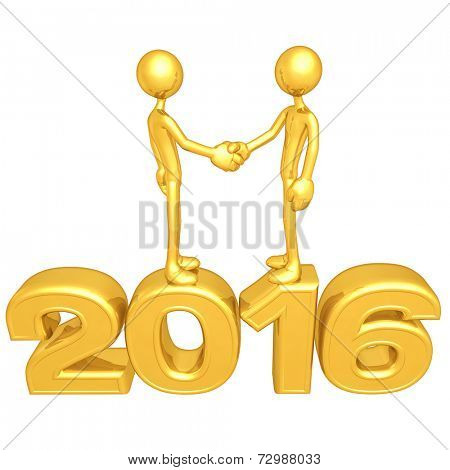 Gold Guy Business Handshake 2016