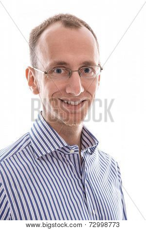 King young man smiling at camera isolated on white background