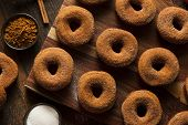 picture of cider apples  - Warm Apple Cider Donuts Ready to Eat - JPG