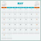 picture of august calendar  - Calendar planner 2015 template week starts sunday - JPG