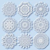 picture of lace  - Circle lace ornament - JPG