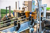 foto of assembly line  - Automatic packing line of conveyor - JPG