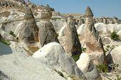 stock photo of phallus  - Stone columns in Cappadocia Central Anatolia - JPG
