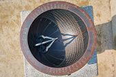 picture of sundial  - Sundial made in the era of Joseon Dynasty and displayed in Gyeongbokgung Seoul South Korea - JPG