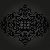 stock photo of damask  - Floral vector oriental pattern with damask - JPG