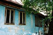 image of derelict  - An historic derelict building in Travnik in the Central Bosnia Canton in Bosnia and Herzegovina - JPG