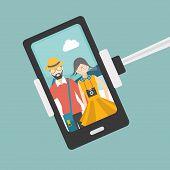 image of selfie  - Couple selfie photo  - JPG