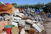 pic of waste disposal  - storage for recycling of metallic waste  - JPG
