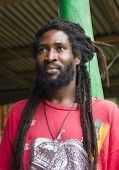 pic of rastaman  - Portrait of African man with dreadlocks - JPG