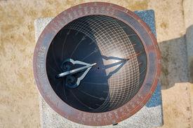 foto of hangul  - Sundial made in the era of Joseon Dynasty and displayed in Gyeongbokgung Seoul South Korea - JPG