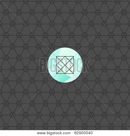 Vector Hipster Modern Pattern. Black Techno Repeating Texture. Geometric Pattern Background. Rhombus and Circles in Nodes. Abstract Ornament for Business Design. Label for Logotype.