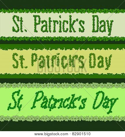 St Patricks Day. Clover Font Set