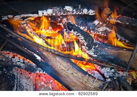 a small fire