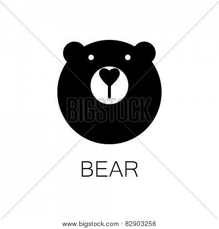 simple sign a bear - design template