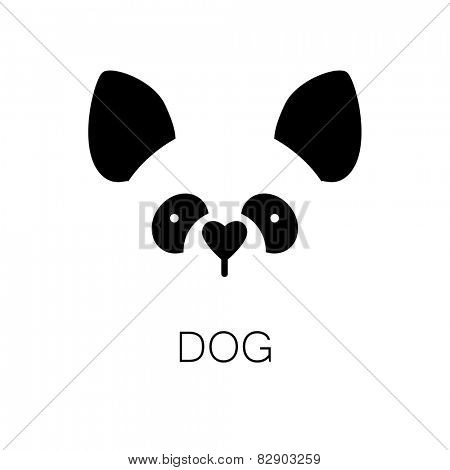 simple sign a dog - design template