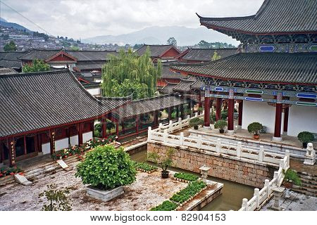 Aerial View Of Palace In Lijiang, China