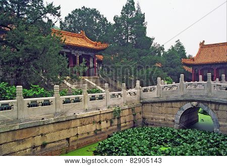 Chinese Garden Pond In Summer Palace, Beijing, China.