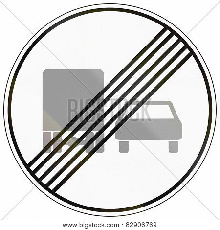 End Of No Overtaking By Lorries
