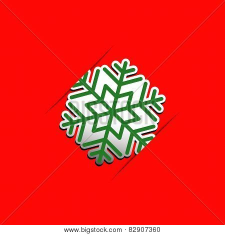 Christmas snowflake applique