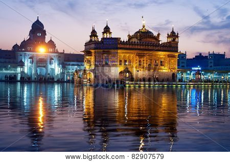 Golden Temple In The Evening. Amritsar. India
