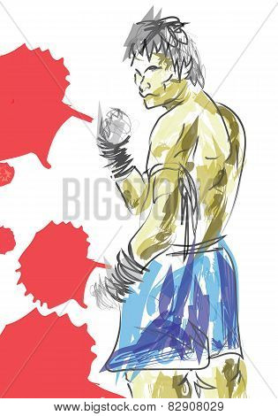 vector  Muay Thai is a martial art