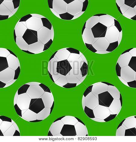soccer's ball seamless texture over green