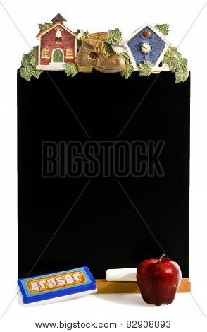 Decorative Blackboard With Apple